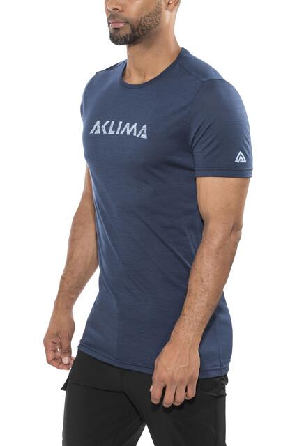Aclima M's LightWool T-Shirt Insignia Blå (2019)